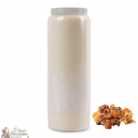 Novena Candle - White - Myrrh fragrance