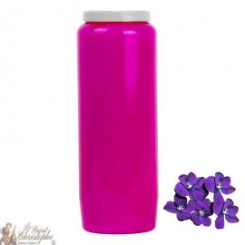 Candela Novena - Viola - fragranza violetta