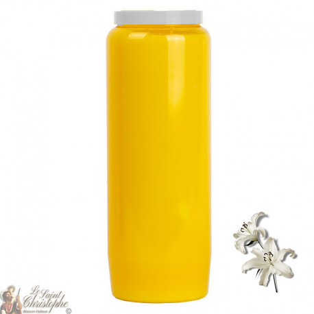 Novena Candle Yellow - Lilies perfume