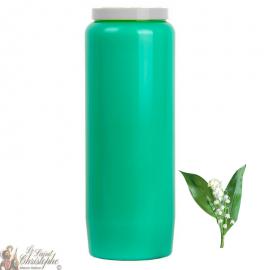 Candle Novena - verde chiaro - profumo Muguet