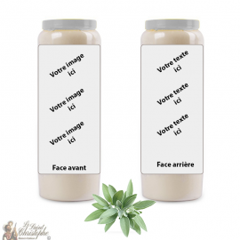 Sage fragrance novena candle - customizable