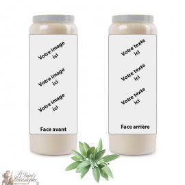 Salie geur novena kaars - aanpasbaar