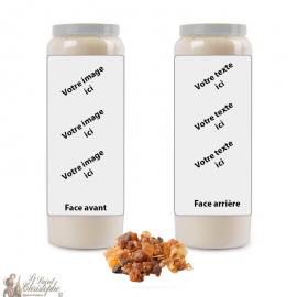 Myrrhe Duft Novene Kerze - individuell gestaltbar