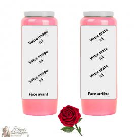 Bougie de neuvaine parfum rose - personnalisable