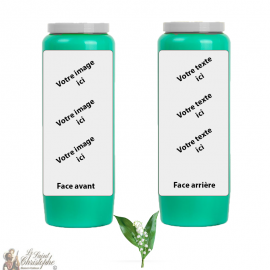 Lily of the valley fragrance novena candle - customizable