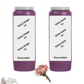 Bougie de neuvaine parfum Bouquet de fleurs - personnalisable