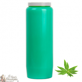 Bougie de neuvaine Verte claire - parfum Verveine