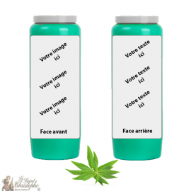 Verbena Parfüm Novene Kerze - individuell gestaltbar