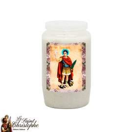 Orange novena candle