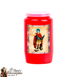 Light blue novena candle