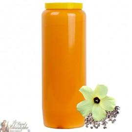 Candela novena arancione - Profumo di muschio
