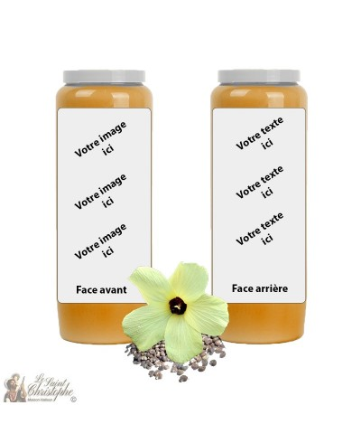Orange Musk fragrance novena candle - customizable