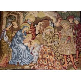 Nativity Tapestry - Christmas crib - 140 x 110 cm