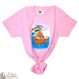 Children's T-Shirt - Noah's Ark pink