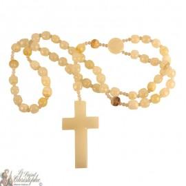 Jasper stone rosary - 85cm