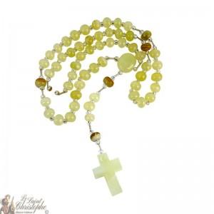 Jasper stone rosary - 43 cm