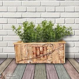 Rectangular wooden pot cover