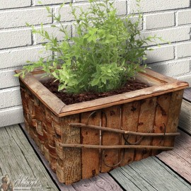 Square wooden pot cover