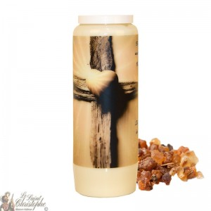 Novena candle for the deceased, myrrh scented - Cross