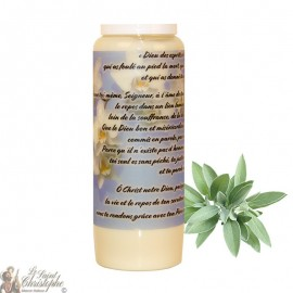 Sage Novena Candle for the Dead - Flowers