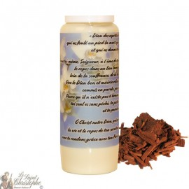Sandalwood Novena Candle for the Dead - Flowers