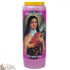 Bougie de neuvaine  à Sainte Thérèse - prière