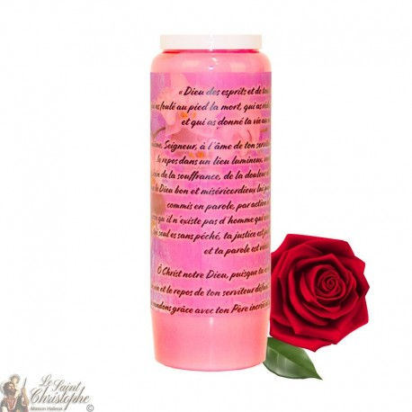 Novena candle for the deceased with rose - Flowers