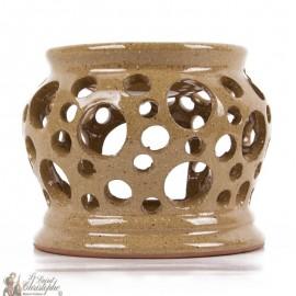 Beige terracotta photophore oil burner
