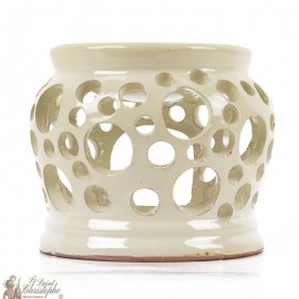 White clay photophore oil burner