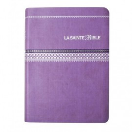 The Holy Bible - Segond 1910 - Purple imitation leather