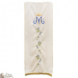 Veil with vegetal motifs for lectern - Marian symbol