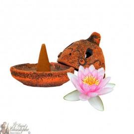 Artisanal incense burner - lotus