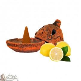 Artisanal incense burner - lemon