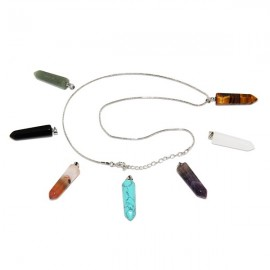 Necklace with 7 health stones, chakras - crystal