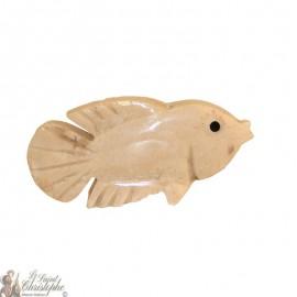 Stone incense holder - white fish