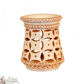 Terracotta photophore oil burner - 4 petals