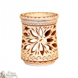 Terracotta photophore oil burner - flower