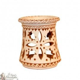 Clay photophore oil burner - holly