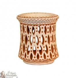 Terracotta photophore oil burner - geometrical