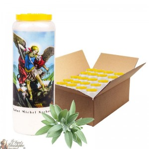 Sage novena candle with sage in Saint Michael - 3 - box 20 pieces