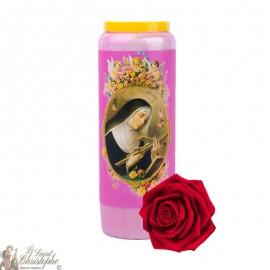 Velas de novena Sainte Rita con aroma a rosa