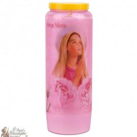 Virgin Mary Pink Novena Candles - doorzichtig