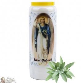 Saint Gabriel Novena Candle with sage scent - 2