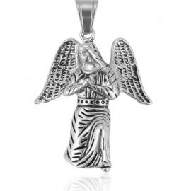 Protective angel steel pendant