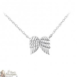 Guardian Angel necklace with wings pendant - Silver 925