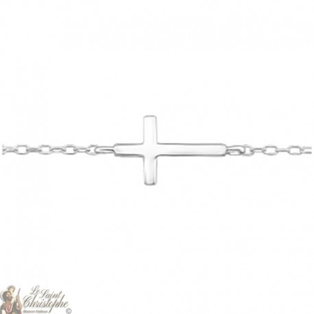 Genuine Silver 925 Cross Bracelet