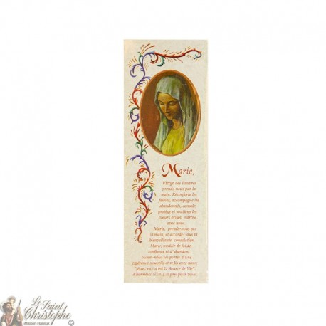 Bookmark Virgin of the Poor of Banneux - Lot 100 pieces