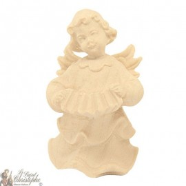 Angel in carved natural wood - accordion