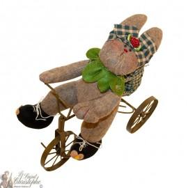 Decorative bicycle rabbit