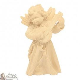 Angel in carved natural wood - guitar - 8 cm